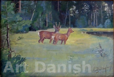 Harald Wiberg, Deer in the forest