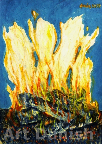 The Fire , 50 x 35 cm , Acrylic on Canson