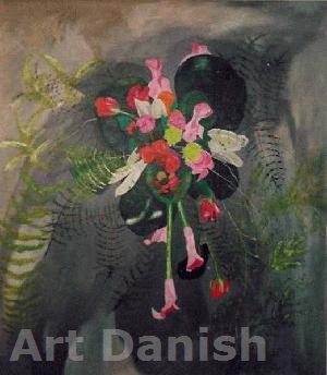 Weddingflower on canvas 30 x 40 cm olie maleri