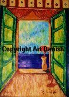 Flower at the Window, artist Amir Wahib in Gallery Art Danish
