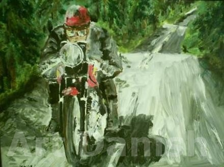 Bike BSA painting