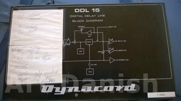 DYNACORD DDL-15 Vintage Digital Delay with Modulation (Korg SDD-3000)